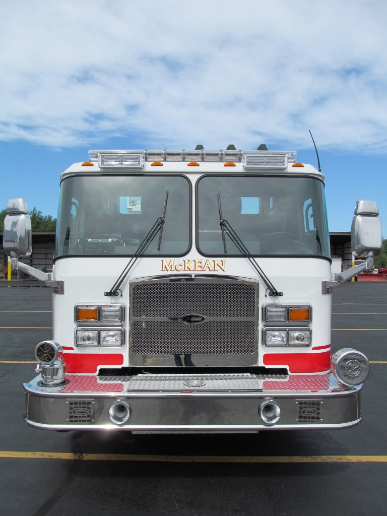 McKean Hose Company, PA new E-ONE Top Mount Pumper - Front View