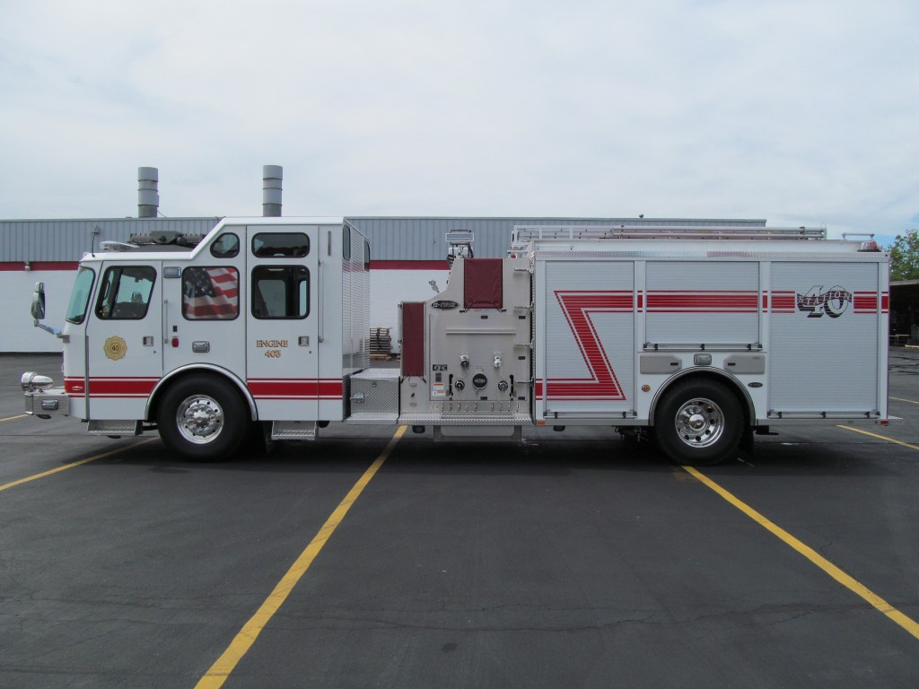 McKean Hose Company, PA new E-ONE Top Mount Pumper - Driver Side