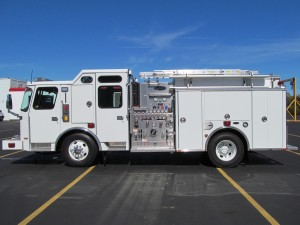 Foxborough, MA Fire Department - Stainless Steel Side Mount Pumper - Driver Side