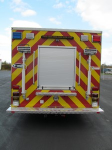 Saint Paul BLVD Fire Department - New Stainless Heavy Rescue - Rear view