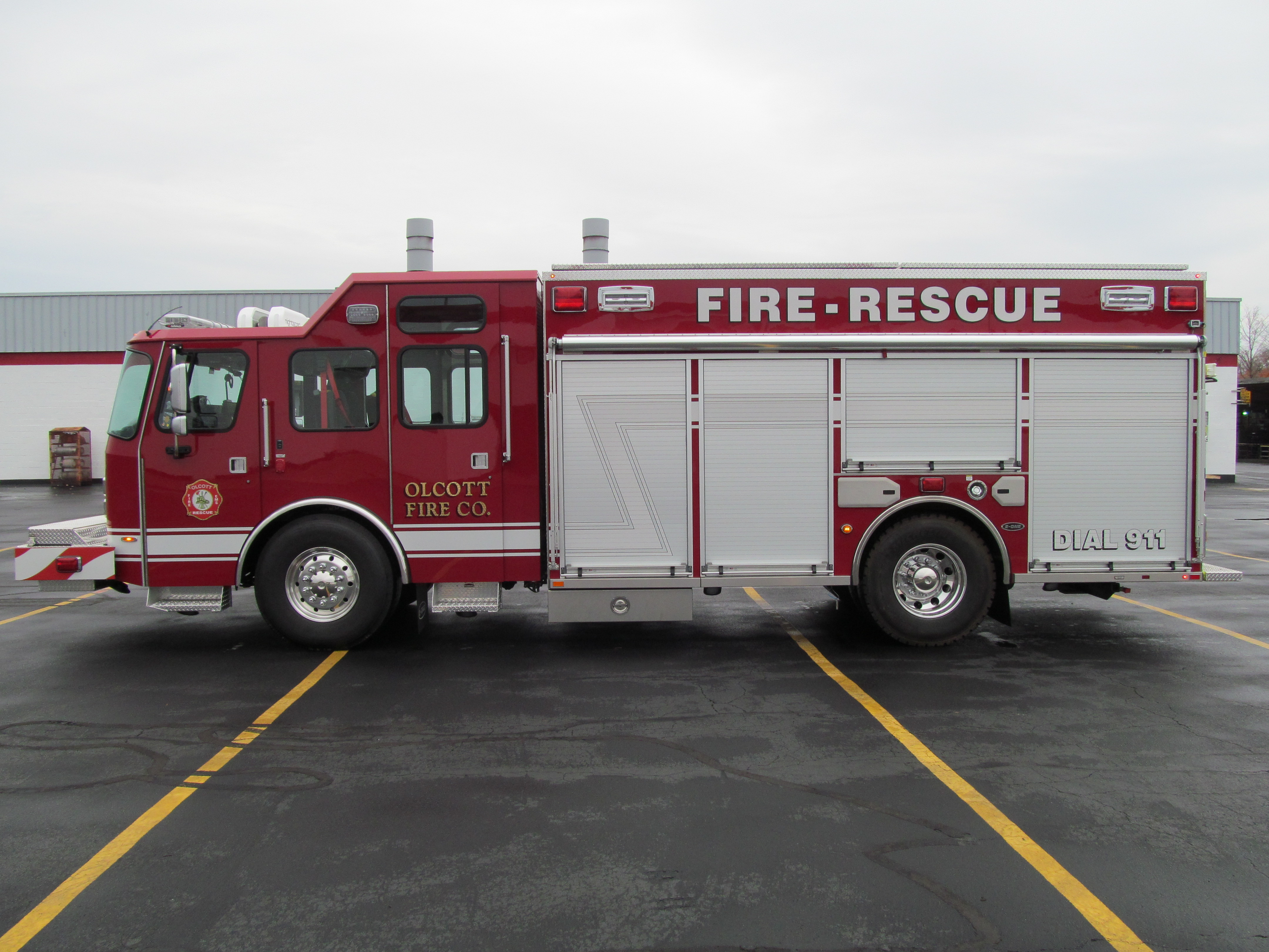 Olcott Fire Company New Stainless Steel Walk-Around Rescue