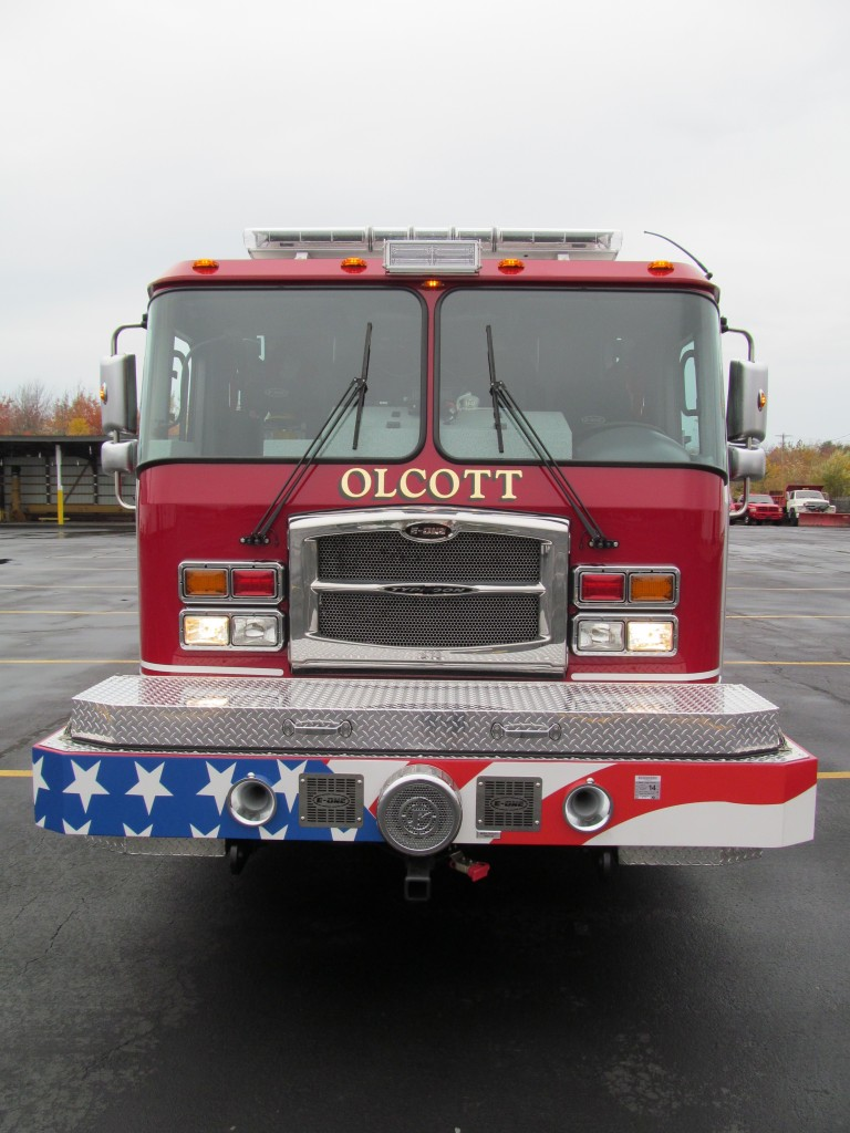 Olcott Fire Company New Stainless Steel Walk-Around Rescue - Front View