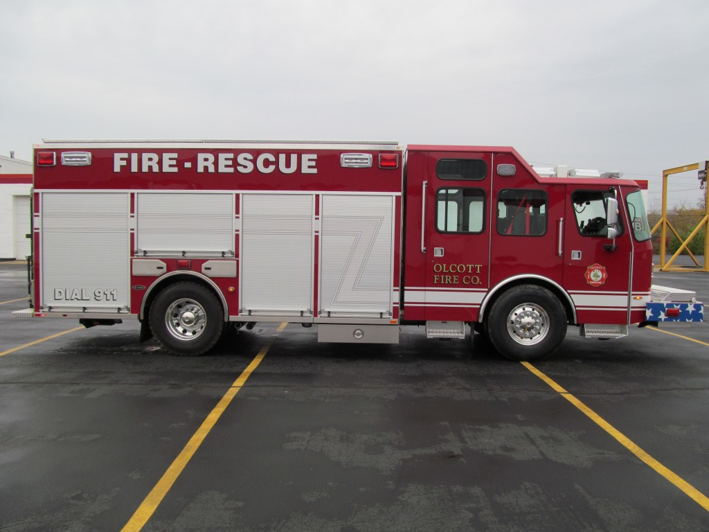 Olcott Fire Company New Stainless Steel Walk-Around Rescue - Officer side