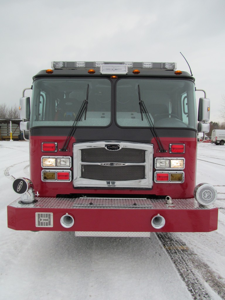 Laconia Fire Department - E-ONE Stainless Rescue Pumper - Front view