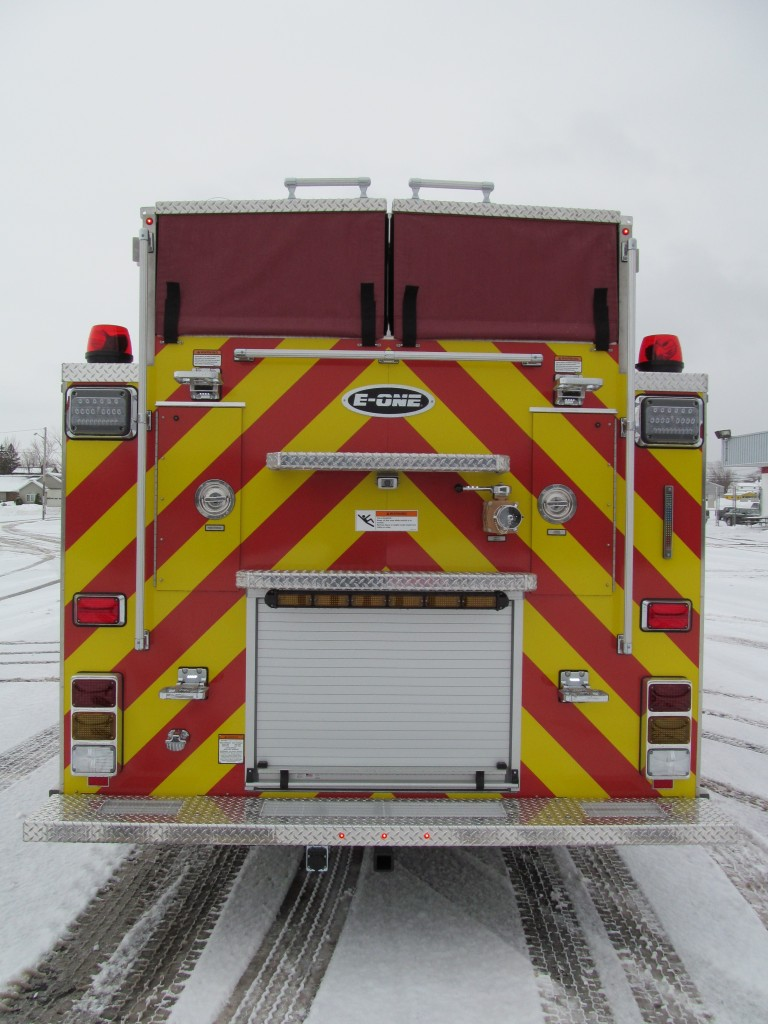 Laconia Fire Department - E-ONE Stainless Rescue Pumper - Rear View