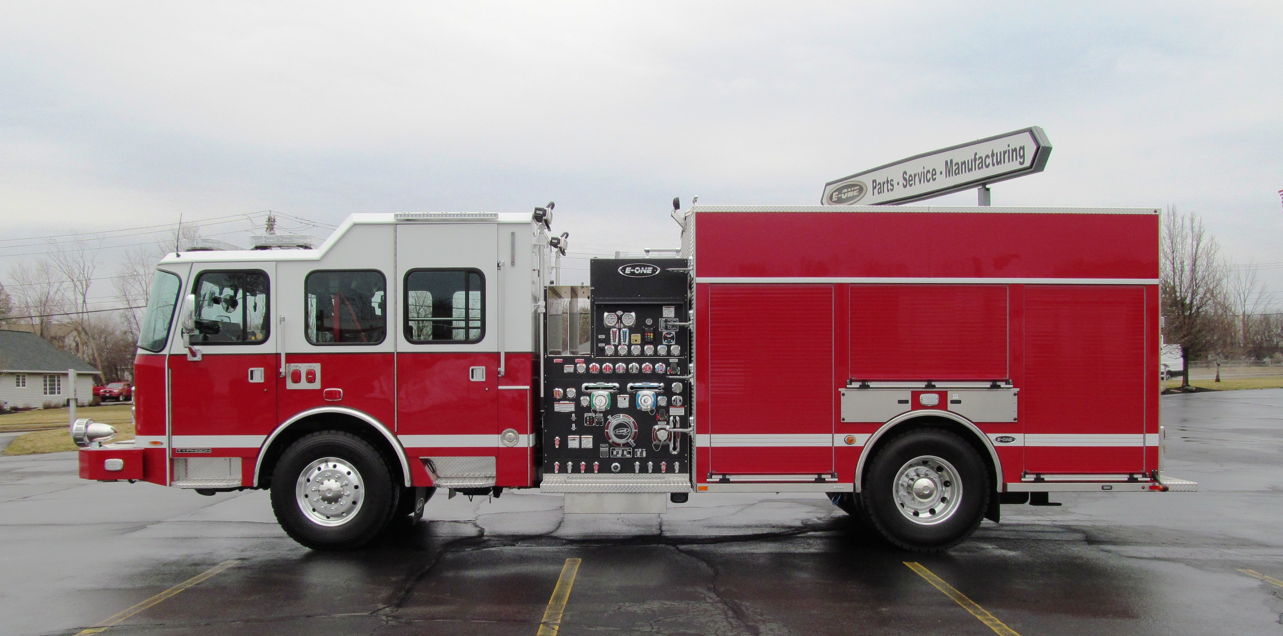 e one stainless steel pumper for st michael s fire and rescue. Black Bedroom Furniture Sets. Home Design Ideas