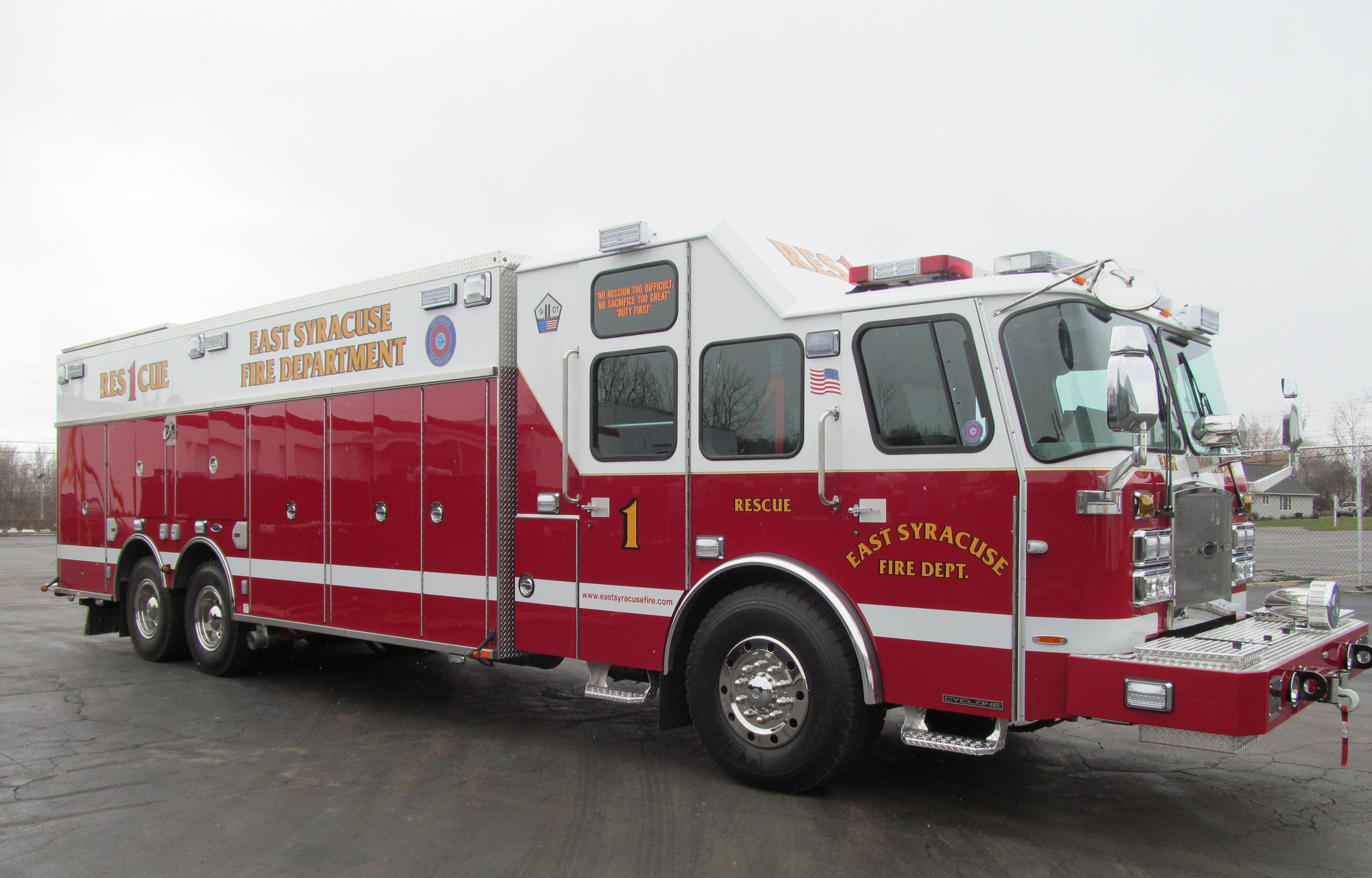 East Syracuse's New E-ONE Stainless Steel Rescue