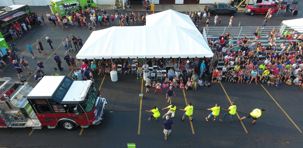 2018 Truck Pull - sky view